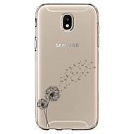 Недорогие Чехлы и кейсы для Galaxy J5(2017)-Кейс для Назначение SSamsung Galaxy J5 (2017) Прозрачный С узором Кейс на заднюю панель Цветы Мягкий ТПУ для J5 (2017)
