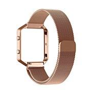Недорогие Аксессуары для смарт-часов-Ремешок для часов для Fitbit Blaze Fitbit Миланский ремешок Металл Повязка на запястье