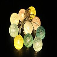 tanie Taśmy świetlne LED-1.5m Łańsuchy świetlne 10pcs Diody LED Ciepła biel Dekoracyjna Zasilane baterie AA 1szt
