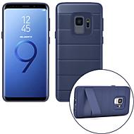 Недорогие Чехлы и кейсы для Galaxy S-Кейс для Назначение SSamsung Galaxy S9 S9 Plus Защита от удара со стендом Кейс на заднюю панель Однотонный Твердый ПК для S9 Plus S9 S8
