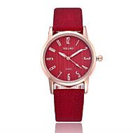 ieftine Bijuterii&Ceasuri-Pentru femei Quartz Ceas La Modă Chineză Ceas Casual PU Bandă minimalist Negru Alb Albastru Roșu Maro Gri Pink
