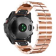 Недорогие Аксессуары для смарт-часов-Ремешок для часов для Fenix 5x Garmin Классическая застежка Нержавеющая сталь Повязка на запястье