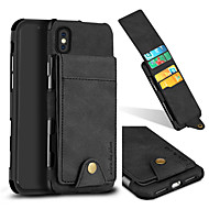 Недорогие Кейсы для iPhone 8-Кейс для Назначение Apple iPhone X iPhone 8 Бумажник для карт Защита от удара Кейс на заднюю панель Однотонный Твердый текстильный для