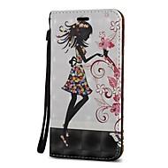 Недорогие Чехлы и кейсы для Galaxy S9 Plus-Кейс для Назначение SSamsung Galaxy S9 S9 Plus Бумажник для карт Кошелек со стендом Флип Чехол Соблазнительная девушка Твердый Кожа PU для