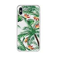 Недорогие Кейсы для iPhone 8-Кейс для Назначение Apple iPhone X iPhone 8 Plus С узором Кейс на заднюю панель Растения дерево Мягкий ТПУ для iPhone X iPhone 8 Pluss