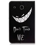 Недорогие Чехлы и кейсы для Samsung Tab-Кейс для Назначение SSamsung Galaxy Tab E 8.0 Бумажник для карт Кошелек со стендом С узором Авто Режим сна / Пробуждение Чехол Слова /