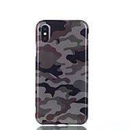 Недорогие Кейсы для iPhone 8-Кейс для Назначение Apple iPhone X iPhone 8 Защита от удара IMD С узором Кейс на заднюю панель Камуфляж Мягкий ТПУ для iPhone X iPhone 8