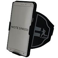 Недорогие Чехлы и кейсы для Galaxy Note-Кейс для Назначение SSamsung Galaxy Note 8 Note 5 Спортивныеповязки Бумажник для карт Защита от удара С ремешком на руку Однотонный