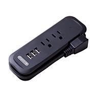 Недорогие Smart Plug-NTONPOWER Smart Plug RCP-2A3U-US-BK for Дорожные / Спальня Портативные / Креатив / Легкий и удобный 100-240 V