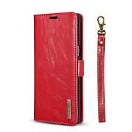 お買い得  -ケース 用途 Samsung Galaxy Note 8 カードホルダー ウォレット スタンド付き フリップ フルボディーケース ソリッド ハード 本革 のために Note 8