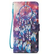 Недорогие Чехлы и кейсы для Galaxy S8-Кейс для Назначение SSamsung Galaxy S9 S9 Plus Бумажник для карт со стендом Флип Магнитный С узором Чехол Ловец снов Твердый Кожа PU для