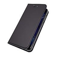 お買い得  携帯電話ケース-ケース 用途 Huawei Nova 2 Plus Nova 2 カードホルダー スタンド付き フリップ 磁石バックル フルボディーケース ソリッド ハード PUレザー のために Huawei Enjoy 7S Huawei Enjoy 6s Huawei Enjoy 6