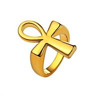 お買い得  -男性用 ナックリリング  -  ステンレス鋼 十字架 ファッション 7 / 8 / 9 ゴールド / ブラック / シルバー 用途 日常