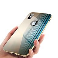 Недорогие Кейсы для iPhone 8-Кейс для Назначение Apple iPhone X iPhone 8 Зеркальная поверхность Чехол Однотонный Твердый Металл для iPhone X iPhone 8 Pluss iPhone 8