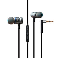 cheap -AWEI 70TY In Ear Cable Headphones Dynamic Mahogany Gaming Earphone with Volume Control with Microphone Headset