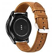 Недорогие Часы для Samsung-Ремешок для часов для Gear S3 Frontier Gear S3 Classic LTE Gear S3 Classic Samsung Galaxy Современная застежка Натуральная кожа Повязка