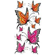 abordables Tatouages temporaires-1 pcs Tatouages Autocollants Tatouages temporaires Séries animales Imperméable Arts du Corps Caisse / bras / épaule