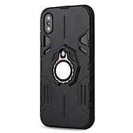Недорогие Кейсы для iPhone 8-Кейс для Назначение Apple iPhone X iPhone 8 Plus Защита от удара Кольца-держатели Магнитный броня Кейс на заднюю панель броня Твердый ПК