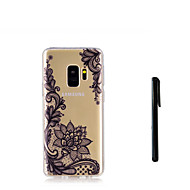 Недорогие Чехлы и кейсы для Galaxy S9 Plus-Кейс для Назначение SSamsung Galaxy S9 Plus / S9 Полупрозрачный Кейс на заднюю панель Цветы Мягкий ТПУ для S9 / S9 Plus / S8 Plus