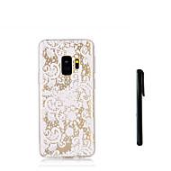 Недорогие Чехлы и кейсы для Galaxy S-Кейс для Назначение SSamsung Galaxy S9 S9 Plus Полупрозрачный Кейс на заднюю панель Цветы Мягкий ТПУ для S9 Plus S9 S8 Plus S8 S7 edge S7