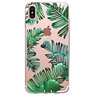 Etui Käyttötarkoitus Apple iPhone X / iPhone 8 Kuvio Takakuori Kasvit Pehmeä TPU varten iPhone X / iPhone 8 Plus / iPhone 8