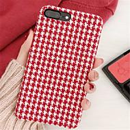 Недорогие Кейсы для iPhone 8 Plus-Кейс для Назначение Apple iPhone X / iPhone 7 Plus С узором Кейс на заднюю панель Полосы / волосы Твердый ПК для iPhone X / iPhone 8 Pluss / iPhone 8