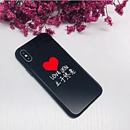 halpa -Etui Käyttötarkoitus Apple iPhone X iPhone 8 Iskunkestävä Takakuori Sana / lause Sydän Kova Karkaistu lasi varten iPhone X iPhone 8 Plus