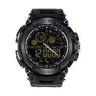 お買い得  -JSBP DX16 多機能腕時計 スマート·ウォッチ Android iOS ブルートゥース APPコントロール 消費カロリー iOSとAndroidシステムに適用します. メッセージ受信通知 着信通知 タイマー ストップウォッチ 歩数計 着信通知 目覚まし時計 / 重力センサー / クロノグラフ付き / カレンダー