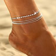 billige Smykker & Ure-Krystal Lag-på-lag Ankel - Bohemisk, Bikini, Boheme Sølv Til Gave / I-byen-tøj / Dame
