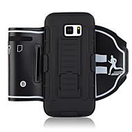 Недорогие Чехлы и кейсы для Galaxy S-Кейс для Назначение Apple S7 edge S7 Спортивныеповязки Бумажник для карт Защита от удара С ремешком на руку Однотонный Мягкий ПК для S7