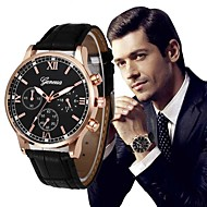 cheap Luxury Watch-Men's Dress Watch Chinese Chronograph / Large Dial PU Band Luxury / Vintage Black / Silver