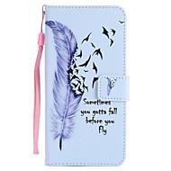 Недорогие Чехлы и кейсы для Galaxy S9-Кейс для Назначение SSamsung Galaxy S9 S9 Plus Бумажник для карт Кошелек со стендом Флип Магнитный Чехол Перья Твердый Кожа PU для S9