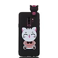 Недорогие Чехлы и кейсы для Galaxy S9 Plus-Кейс для Назначение SSamsung Galaxy S9 Plus / S9 С узором / Своими руками Кейс на заднюю панель Кот Мягкий ТПУ для S9 / S9 Plus / S8 Plus