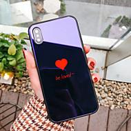 Недорогие Кейсы для iPhone 8 Plus-Кейс для Назначение Apple iPhone X iPhone 8 Защита от удара С узором Кейс на заднюю панель С сердцем Твердый Закаленное стекло для iPhone
