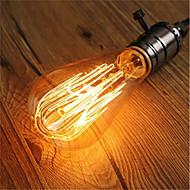 abordables Bombillas Incandescentes-1pc 40W E26/E27 ST64 Blanco Cálido 2200-2700k K Retro Regulable Decorativa Bombilla incandescente Vintage Edison 220-240V