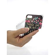 Недорогие Кейсы для iPhone 8-Кейс для Назначение Apple iPhone X / iPhone 7 Ультратонкий / С узором / Милый Кейс на заднюю панель Слова / выражения / Цветы Мягкий ТПУ