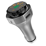 Недорогие Автомобильные зарядные устройства-AP06 Bluetooth 4.2 Автомобиль USB зарядное гнездо металлический Bluetooth FM приемники универсальный