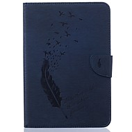 billige Samsung-tilbehør-Etui Til Samsung Galaxy Tab S2 8.0 Kortholder Lommebok med stativ Mønster Auto Sove / Våkne Heldekkende etui Fjær Hard PU Leather til Tab