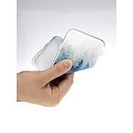 Недорогие Кейсы для iPhone 8-Кейс для Назначение Apple iPhone X / iPhone 7 Ультратонкий / С узором / Милый Кейс на заднюю панель Пейзаж Мягкий ТПУ для iPhone X /