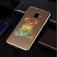 Недорогие Чехлы и кейсы для Galaxy A3(2017)-Кейс для Назначение SSamsung Galaxy A8 2018 / A8 Plus 2018 Покрытие / С узором Кейс на заднюю панель Животное Мягкий ТПУ для A3 (2017) /