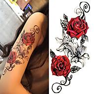 levne Dočasné tetování-3 pcs Tetovací nálepky dočasné tetování Květinová řada / Romantická série Tělesné Arts Tělo / rameno / Noha