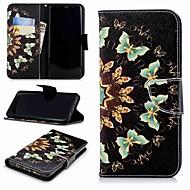 Недорогие Чехлы и кейсы для Galaxy S9-Кейс для Назначение SSamsung Galaxy S9 Plus / S8 Кошелек / Бумажник для карт / со стендом Чехол Бабочка Твердый Кожа PU для S9 / S8 Plus