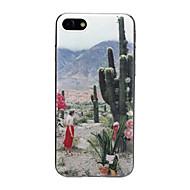 Недорогие Кейсы для iPhone 8-Кейс для Назначение Apple iPhone X / iPhone 7 Ультратонкий / С узором / Милый Кейс на заднюю панель Пейзаж / Цветы Мягкий ТПУ для iPhone
