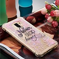 Недорогие Чехлы и кейсы для Galaxy A5(2017)-Кейс для Назначение SSamsung Galaxy A8 Plus 2018 / A8 2018 Защита от удара / Движущаяся жидкость / С узором Кейс на заднюю панель Слова / выражения Мягкий ТПУ для A3 (2017) / A5 (2017) / A8 2018