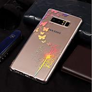 Недорогие Чехлы и кейсы для Galaxy Note 8-Кейс для Назначение SSamsung Galaxy Note 8 Покрытие / С узором Кейс на заднюю панель Бабочка / одуванчик Мягкий ТПУ для Note 8
