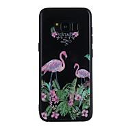 Недорогие Чехлы и кейсы для Galaxy S8 Plus-Кейс для Назначение SSamsung Galaxy S9 Plus / S9 Зеркальная поверхность / С узором Кейс на заднюю панель Фламинго Твердый Закаленное стекло для S9 / S9 Plus / S8 Plus