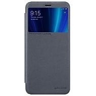 お買い得  携帯電話ケース-ケース 用途 Xiaomi Mi 6X ウィンドウ付き / フリップ / つや消し フルボディーケース ソリッド ハード PUレザー のために Xiaomi Mi 6X(Mi A2)