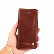 preiswerte Handyhüllen-Hülle Für OnePlus OnePlus 6 Geldbeutel / Kreditkartenfächer / Flipbare Hülle Ganzkörper-Gehäuse Solide Hart Echtleder für OnePlus 6
