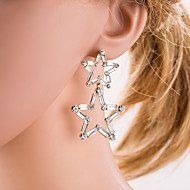 cheap -Women's Hoop Earrings - Classic / Sexy / European Gold / Silver Geometric Earrings For Daily / Office & Career / Women's