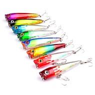 お買い得  釣り用アクセサリー-8pcs 個 ポッパー ハードベイト / ポッパー プラスチック 屋外 ベイトキャスティング / ルアー釣り / 一般的な釣り